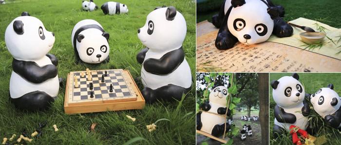 熊猫表情包原素材